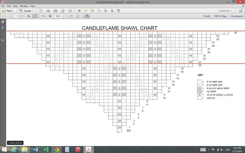 Candle Flame Shawl